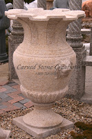 Carved Granite Planter, H47 x D32