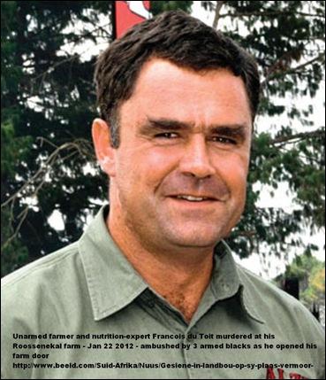 DuToit Francois Roossenekal Limoppo murdered Jan22 2012
