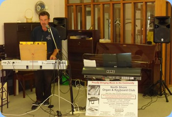 Peter Littlejohn playing his Korg Pa1X for the members of St Annes Club for the Blind