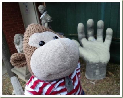 Big hand garden ornament