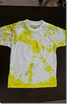 Yellow Tie Dyed Shirt