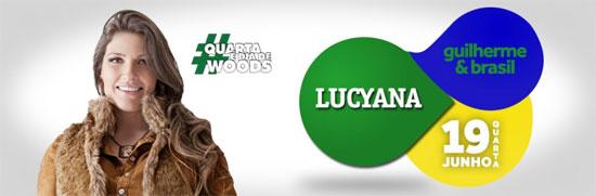 Lucyana no Woods Bar em São Paulo