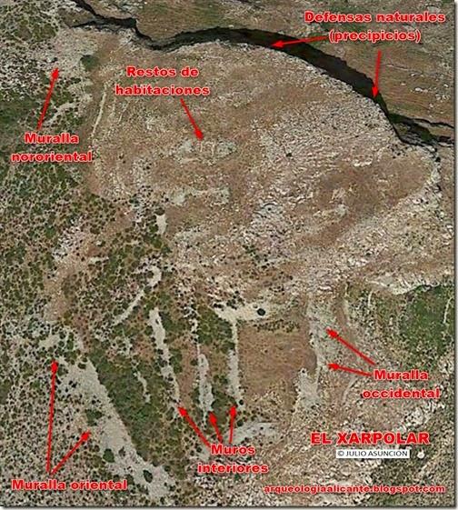 EL XARPOLAR Detalle de estructuras en vista satélite