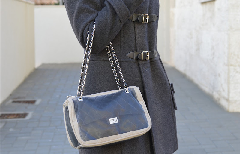 Pomikaki Bag, Pomikaki, Pomikaki Black Bag, Gary Coat, Rinascimento Gray Coat