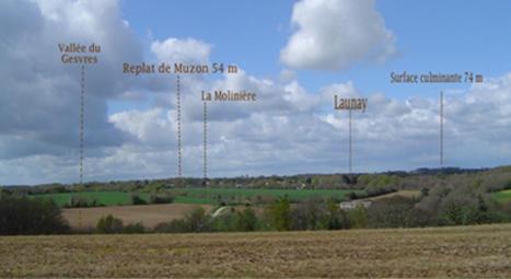 La vallée du Gesvres vue du replat du moulin de Launay (haut) en 2012