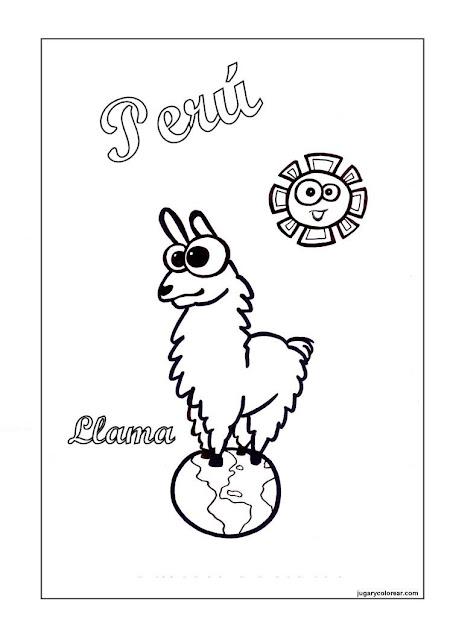 Independencia de Perú para Colorear - Manualidades Infantiles