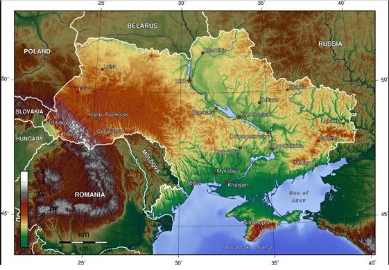 mapa d'Ucraïna