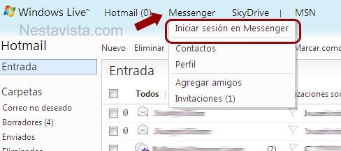 Clic en la opción Messenger