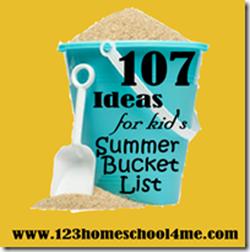 107 Must do Summer Activities for Kids Bucket Lists