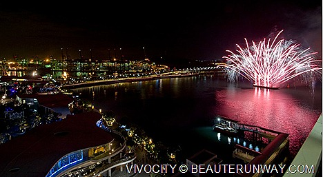 VivoCity 5th anniversary fireworks display Nick Spiteri of Italy, Christmas musical Winter Dream Elephant Parade Logos Ship floating bookstore