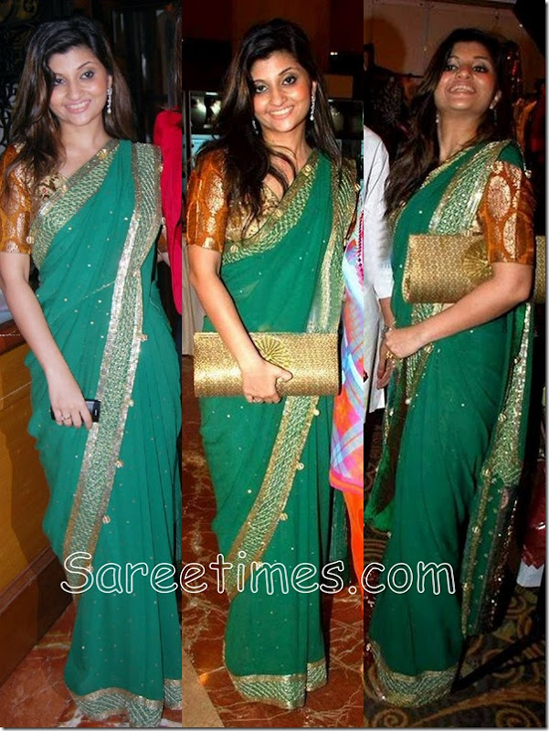Sarika_Desai_Green_Saree