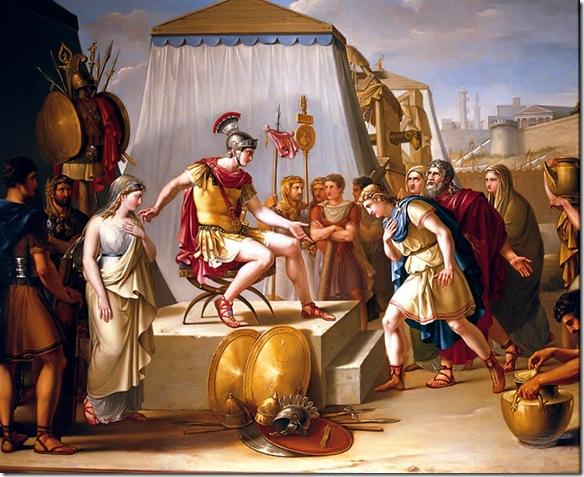 Federico de Madrazo - La continencia de Escipión (Batalla de Cartagena - 209 a.C.). 1888. Real Academia de Bellas Artes de San Fernando