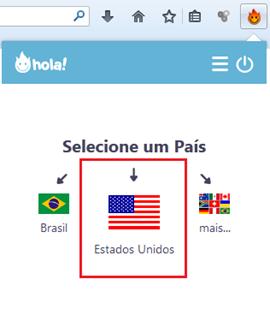 Clique em Estados Unidos - Hola
