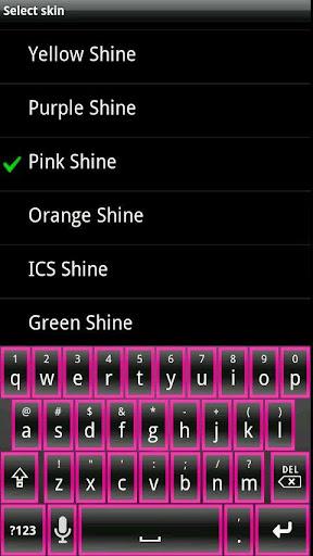 Pink Shine HD Keyboard Skin