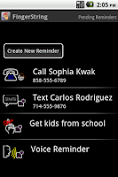 Screenshot of FingerString Reminders