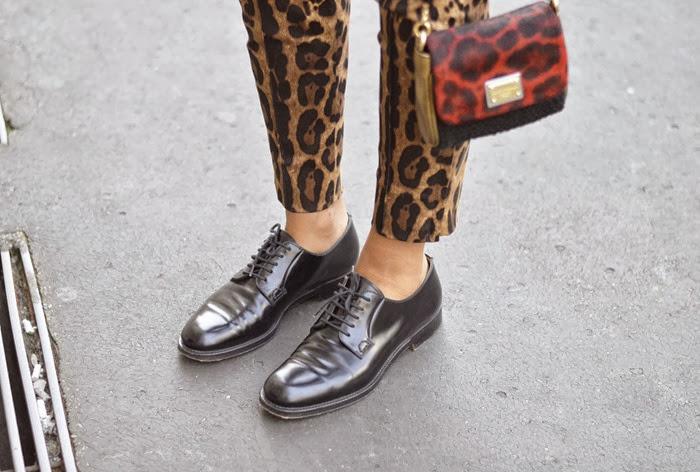 Milano fashion week, settimana della moda milano, streetstyle milano, fashion blogger, fashion blogger italiane, dolce & gabbana, pantaloni maculati dolce & gabbana, church's, churc's shoes, church's scarpe stringate, lace up shoes, dolce & gabbana bag, elisa taviti, my fantabulous world