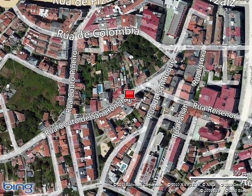 Ubicación de la tienda de bicicletas Duran Bikes en Vigo.