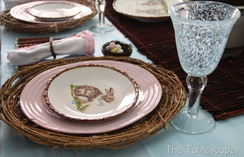 Rustic Rabbits Easter Tablescape - The Tablescaper06