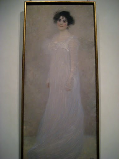 Klimt's portrait of Serena Lederer, completed in 1899.
