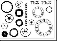 tick tock a5 plate