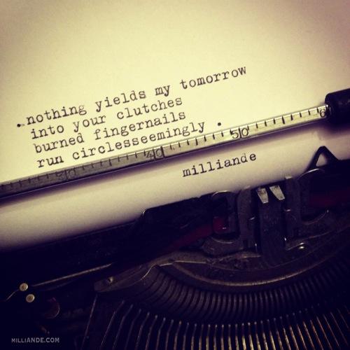 Typewriter spills poetic glimpses milliande 2