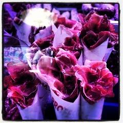 ham bouquets at la Boqueria