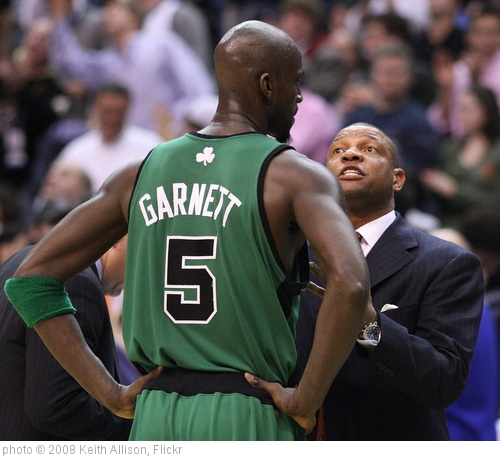 'Kevin Garnett and Doc RIvers' photo (c) 2008, Keith Allison - license: http://creativecommons.org/licenses/by-sa/2.0/