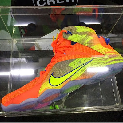 nike lebron 12 gr orange silver yellow 1 04 New Colorway of the Nike LeBron 12 is as Bright as the Sun