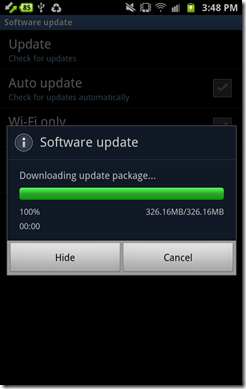 Update Android 4.0 8