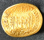 300 yr old gold coin