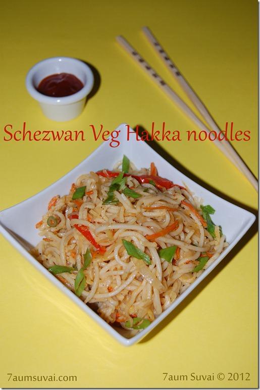 Schezwan Veg Hakka noodles