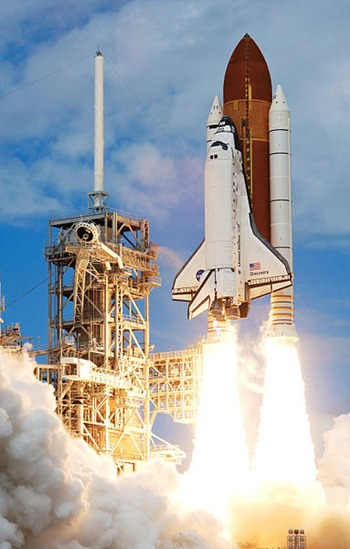 space shuttle blast off