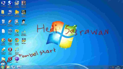 tombol start windows 7