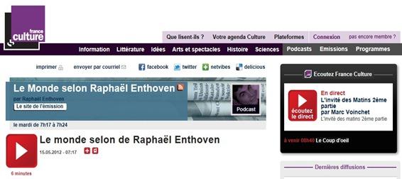 Chronique de Raphaël Enthoven