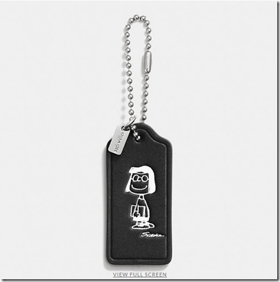 COACH X Peanuts leather hangtag - USD 20 - black 10