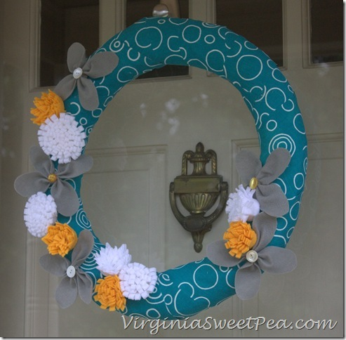 Felt Flower Wreath3