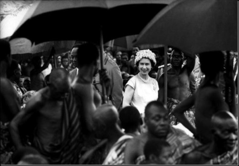 ACCRA, Ghana — Queen Elizabeth II on a state visit, 1961.
