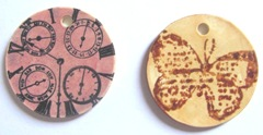 bone stamped circles