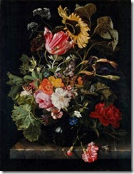 PURCELL - Maria van Oosterwyck - Bouquet of Flowers in a Vase (c.1670)