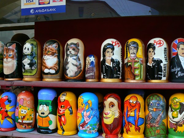 Obiective turistice Rusia: matrioshka Sankt Petersburg