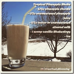Tropical Pineapple Shakeology