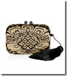 Kotur Satin and velvet box clutch