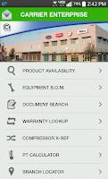 Screenshot of Carrier Enterprise HVAC Assist
