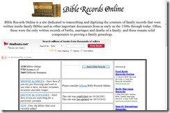 Bible Records Online Website