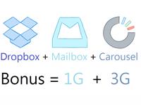 [2014] Dropbox 免費空間永久獎勵 4G(Mailbox、Carousel)