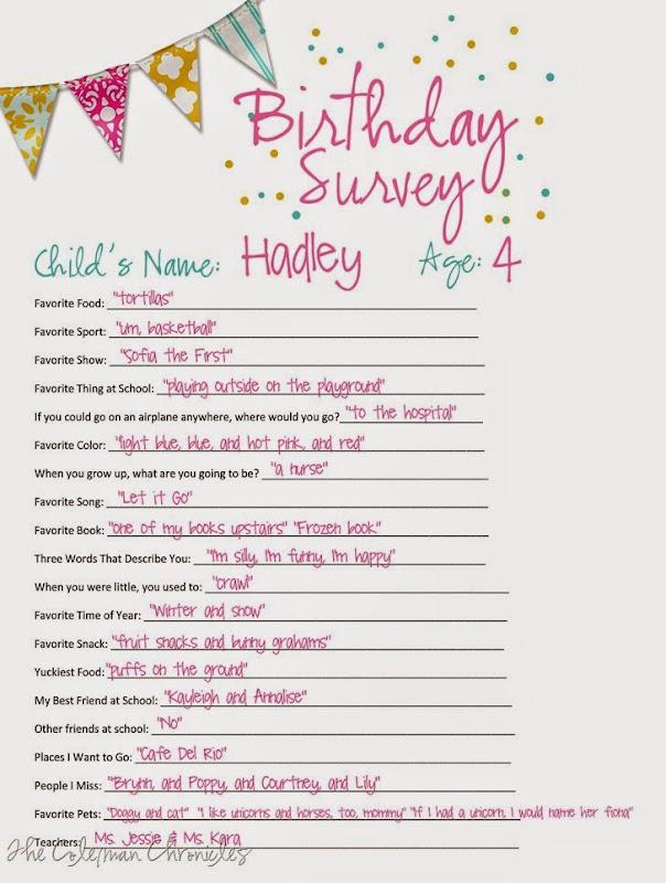 Hadley4thbirthdaysurvey