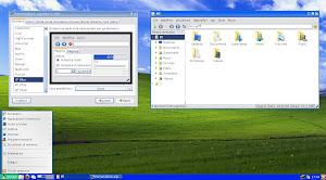 LXDE con tema, icone e sfondo di Windows XP