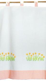 L21 cortina tulipas laranja