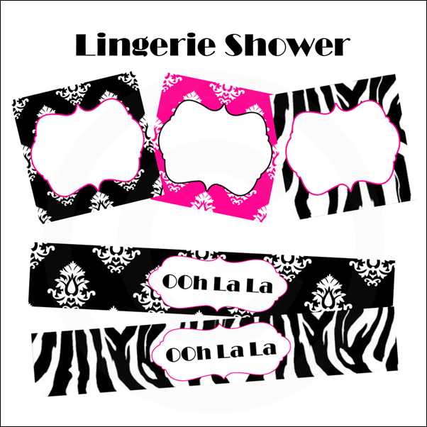 Lingerie Printable Party
