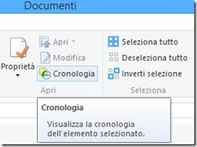 Accedere alla cronolgia file dalla cartella Windows